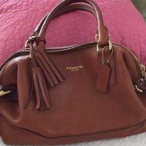 Brown Coach bag, L